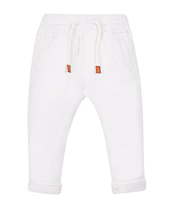 Mothercare White Linen Trousers