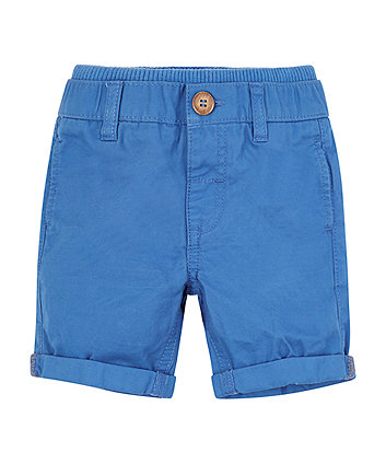 Mothercare Blue Belted Twill Shorts