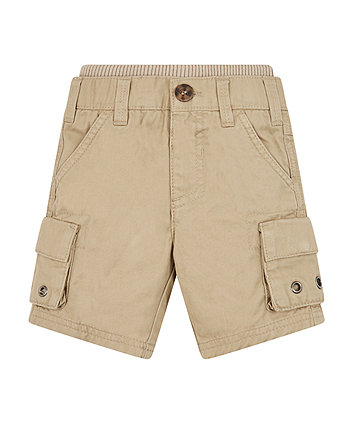 Mothercare Stone Twill Cargo Shorts