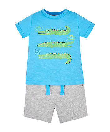 Mothercare Crocodile T-Shirt And Shorts Set