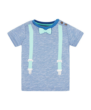 Mothercare Braces And Bow Tie T-Shirt