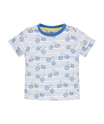Mothercare White Bicycle T-Shirt