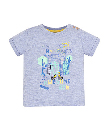 Mothercare Blue Awesome Den T-Shirt
