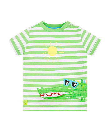 Mothercare Striped Crocodile T-Shirt