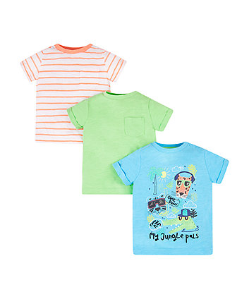Mothercare Jungle Pals T-Shirts - 3 Pack