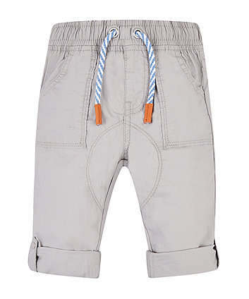 Mothercare Grey Roll Up Trousers