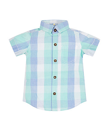 Mothercare Green Check Polo Shirt