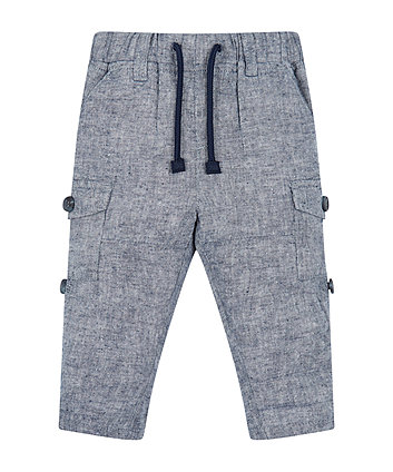 Mothercare Chambray Roll-Up Trousers