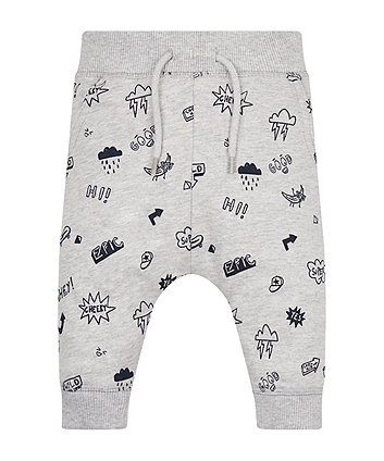 Mothercare Grey Doodle Joggers