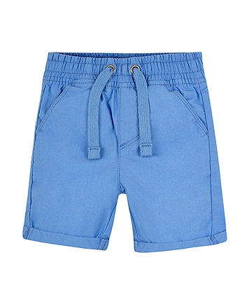 Mothercare Blue Poplin Shorts