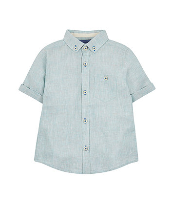 Mothercare Green Slub Shirt