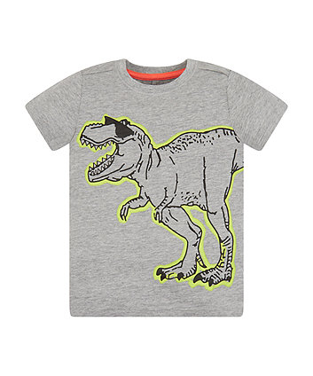 Mothercare Grey And Lime Dino T-Shirt