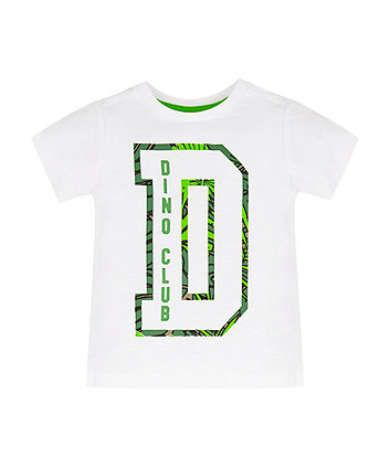 Mothercare White Dino Club T-Shirt