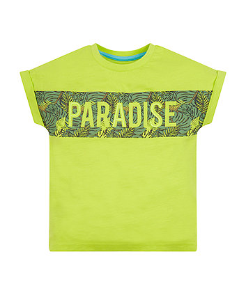 Mothercare Lime Paradise Foliage T-Shirt