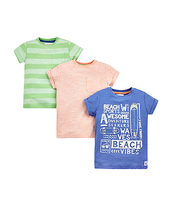 Beach Sports T-Shirts - 3 Pack