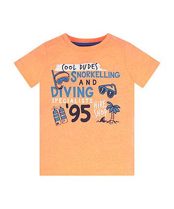 Mothercare Orange Cool Dudes T-Shirt