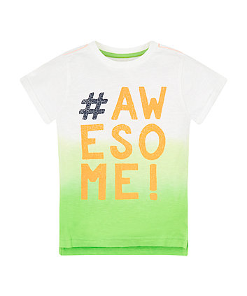 Mothercare Awesome Lime Dip Dye T-Shirt