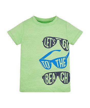 Mothercare Green Sunglasses T-Shirt