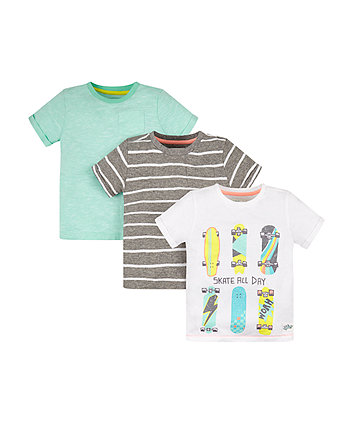 Skate Stripe T-Shirts - 3 Pack