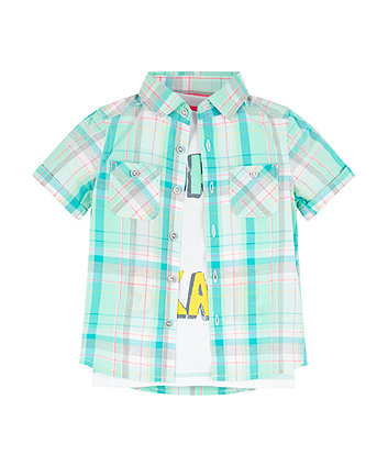 Mothercare Bright Skate Shirt And T-Shirt Set
