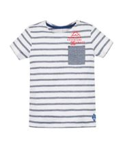 Mothercare White And Blue Striped T-Shirt