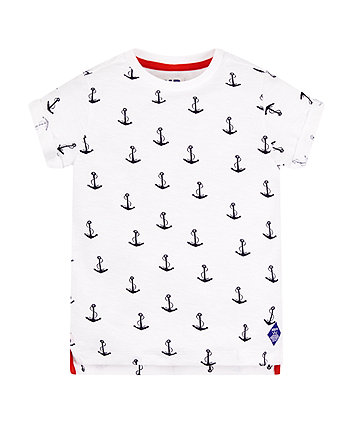 Mothercare White Anchor T-Shirt