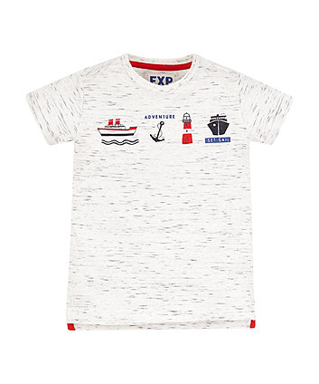 Mothercare White Adventure Boat T-Shirt