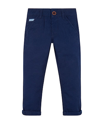Mothercare Navy Turn Up Trousers