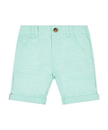 Mothercare Ice Green Twill Shorts
