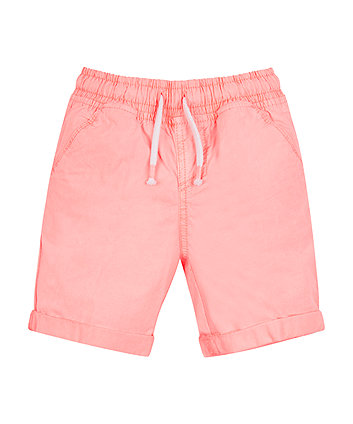 Mothercare Neon Coral Poplin Shorts