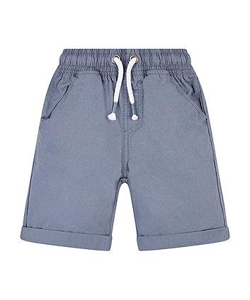 Grey Poplin Shorts
