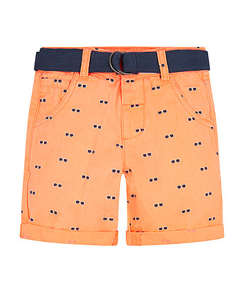 Mothercare Orange Sunglasses Print Shorts