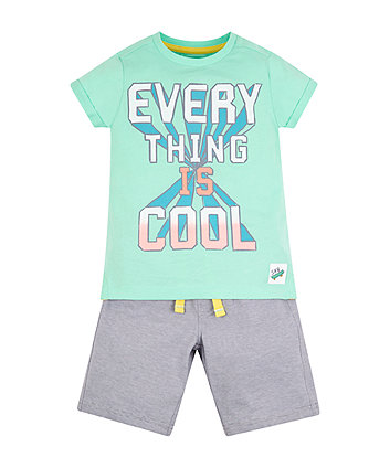 Everything Is Cool T-Shirt And Shorts Set
