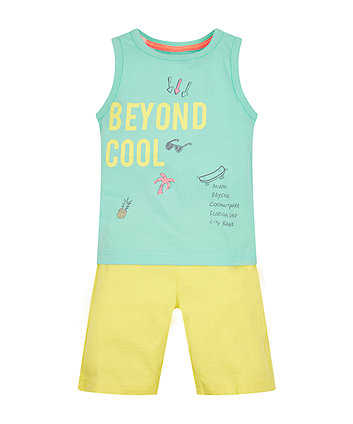 Mothercare Beyond Cool Top And Shorts Set