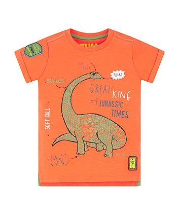 Mothercare Orange Dinosaur T-Shirt