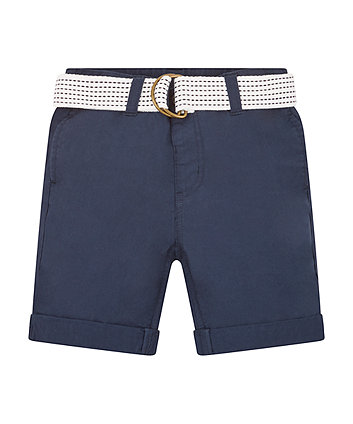 Mothercare Navy Belted Shorts