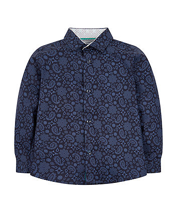 Mothercare Navy Paisley Shirt