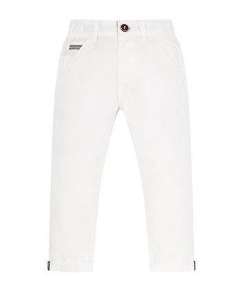 Mothercare White Turn Up Trousers