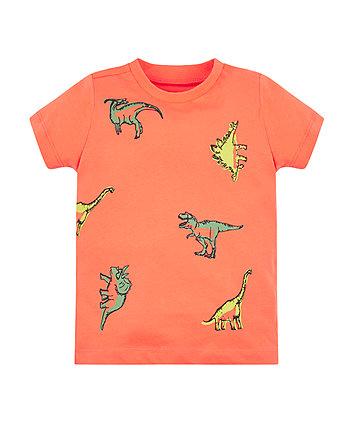 Mothercare Orange Dino T-Shirt