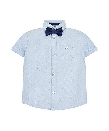 Spotted Oxford Shirt And Bow Tie Set