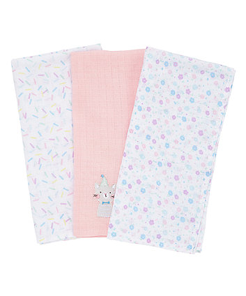 Mothercare Confetti Party Muslins - 3 Pack