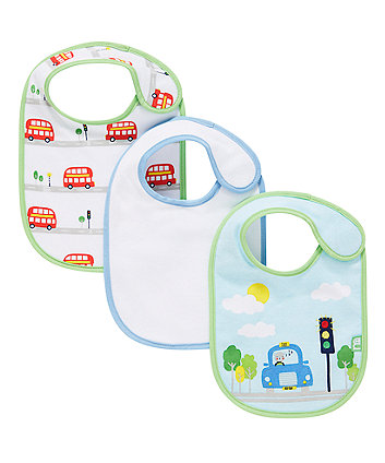 Mothercare On The Road Bibs - 3 Pack