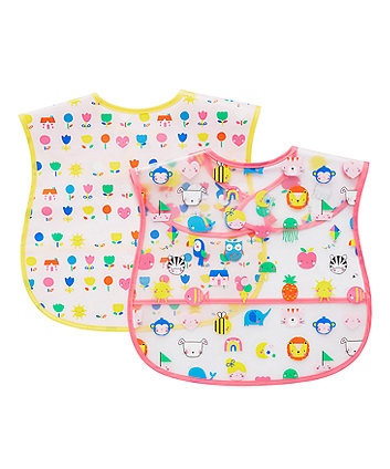 Mothercare On The Road Crumb Catcher Bibs - 2 Pack
