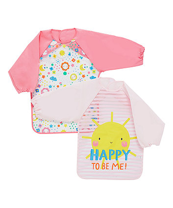 Mothercare Sunny Days Happy To Be Me Coverall Bibs - 2 Pack