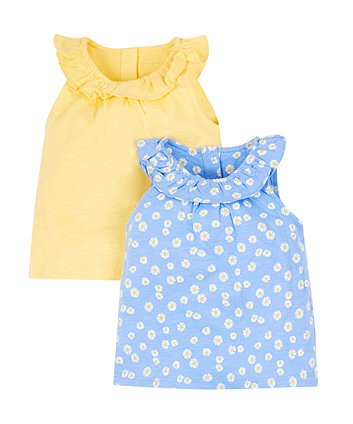 Mothercare Frilly Daisy Tops - 2 Pack