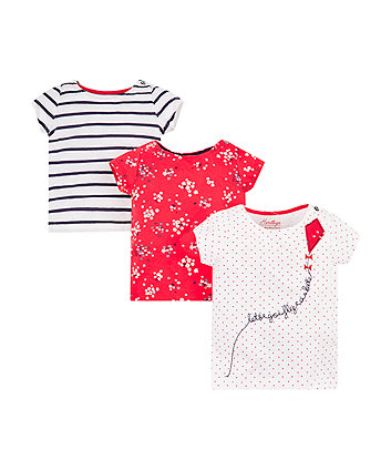 Mothercare Fly A Kite T-Shirts - 3 Pack