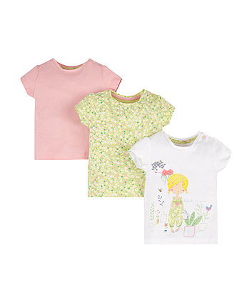 Mothercare Watch Me Grow Gardening T-Shirts - 3 Pack