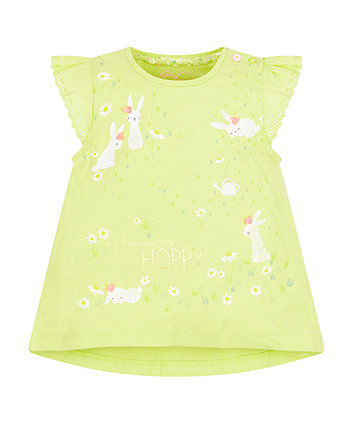 Mothercare Lime So Hoppy A-Line T-Shirt