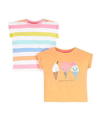 Mothercare Day Dreams And Ice Creams T-Shirts - 2 Pack