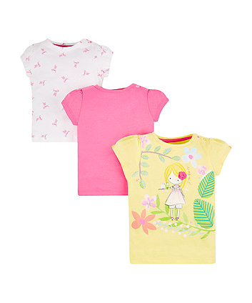 Mothercare Free As A Bird T-Shirts - 3 Pack